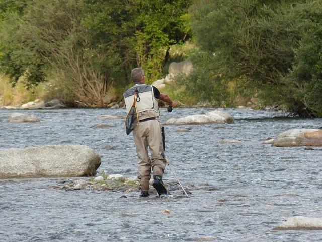 rybář v řece