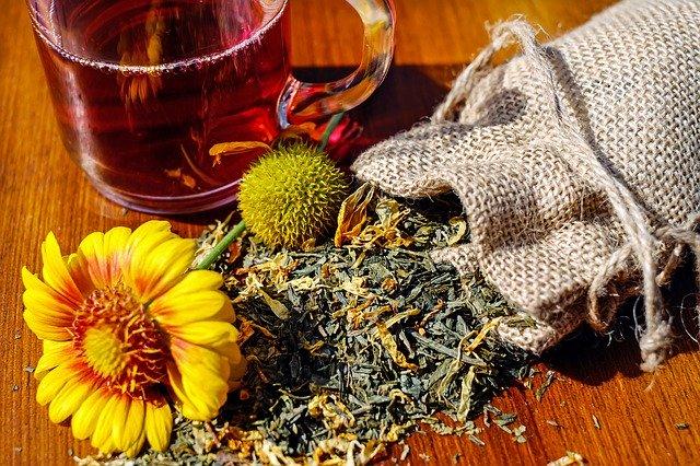 byliny v pytlíku + čaj
